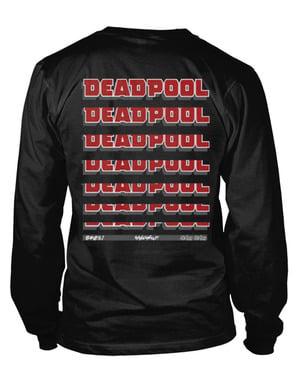 Deadpool Fade Out Logo kaos lengan panjang