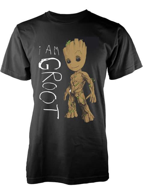 Pánské tričko Strážci galaxie 2 I Am Groot Scribbles