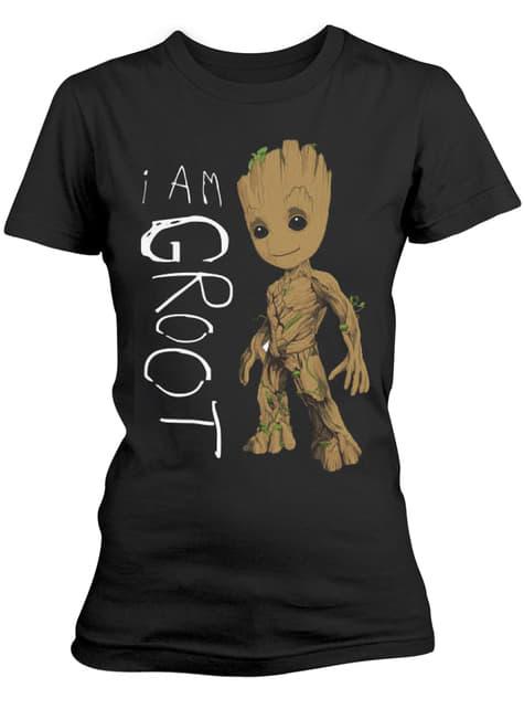 T-shirt Les Gardiens de la Galaxie Vol. 2 I Am Groot Scribbles femme