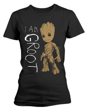 T-shirt de Os Guardiões da Galáxia Vol 2 I Am Groot Scribbles para mulher