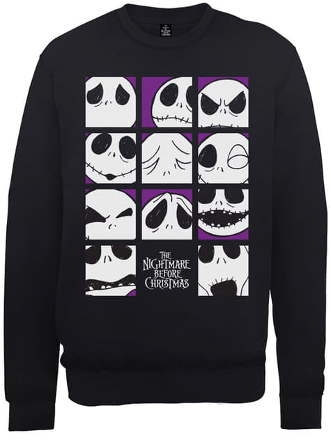 The Nightmare Before Christmas The Many Faces Of Jack Squares sweatshirt