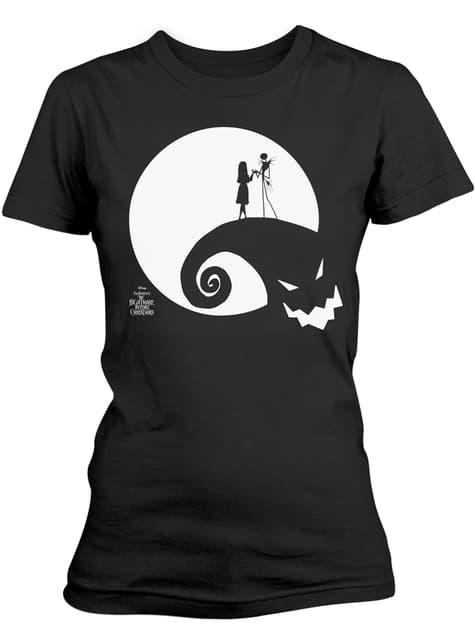 Camiseta de Pesadilla Antes de Navidad The Moon Oogie Boogie para mujer