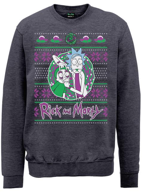 Rick and Morty Christmas Portal sweatshirt
