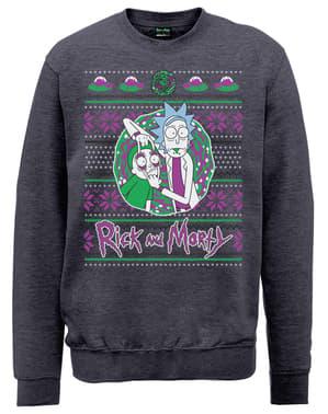 Christmas Portal Sweatshirt Rick und Morty