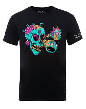 ब्लैक रिक और मॉर्टी आईबॉल स्कल टी-शर्ट
