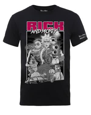 ब्लैक रिक और मोर्टी गन्स टी-शर्ट