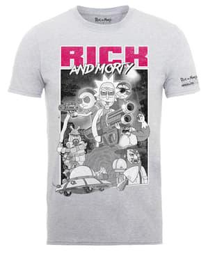 ग्रे रिक और मोर्टी गन्स टी-शर्ट