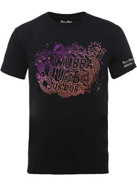 Camiseta de Rick y Morty Wubba Lubba negra