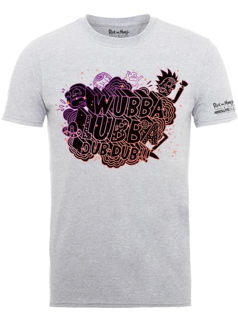 Grey Rick and Morty Wubba Lubba t-shirt