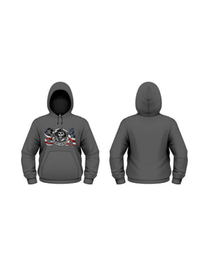 Sons of anarchy flag hoodie