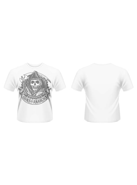 Hvit Sons Of Anarchy Mannen med Ljåen t-skjorte