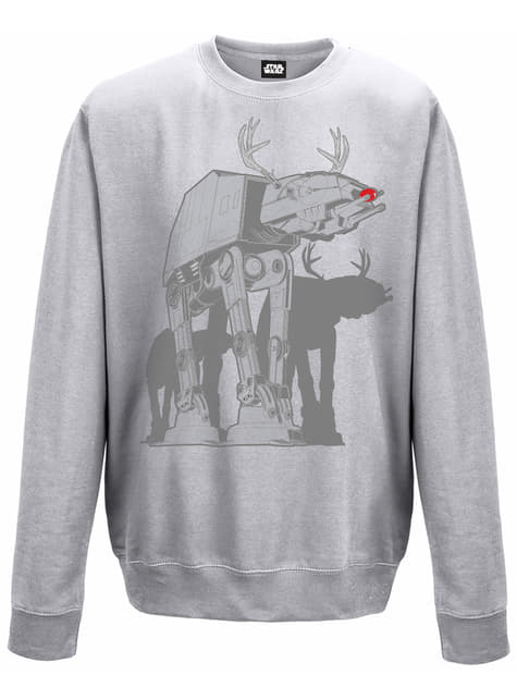 Sweatshirt de Star Wars At-At Xmas Walker cinzenta