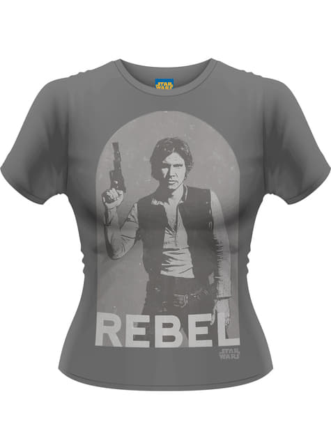Star Wars Han Rebel t-skyrta fyrir konur