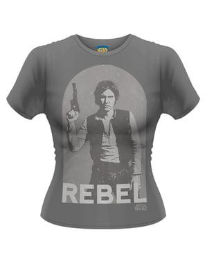 Star Wars Han rebel t-shirt til kvinder