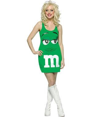 Kostým pro dospělé zelené M&M
