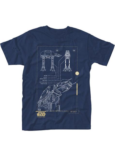 Star Wars Rogue One Blue Print At-Act t-shirt