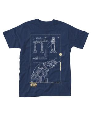 Sininen Star Wars: Rogue One t-paita