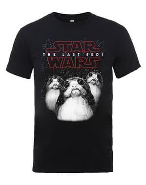 Yıldız Savaşları Son Jedi Porg tişört