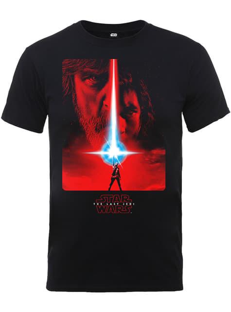Sort Star Wars The Last Jedi plakat t-shirt