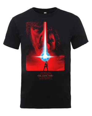 Svart Star Wars The Last Jedi Plakat t-skjorte