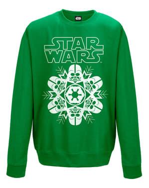 Grøn Star Wars Vader med snefnug sweatshirt