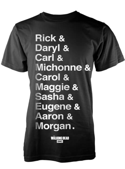 The Walking Dead Names T-Shirt