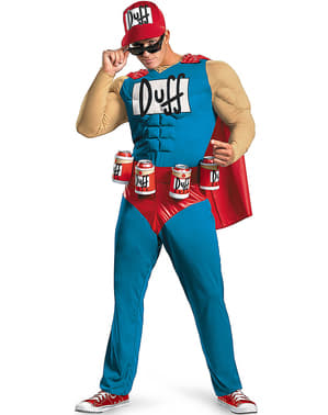 Duffman: The Simpsons Adult Costume
