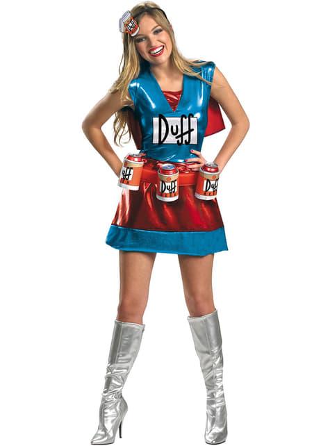 """Duffwoman: костюм за възрастни– """"Семейство Симпсън"""""""