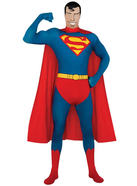 Second Skin Supermann Kostyme Voksen