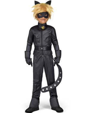 Maskeraddräkt Cat Noir The Adventures of Ladybug  för barn