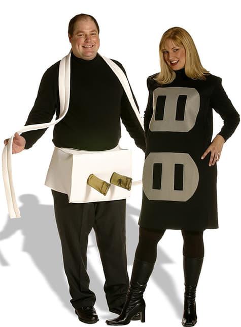 Støpsel og Stikkkontakt Kostyme for 2 personer