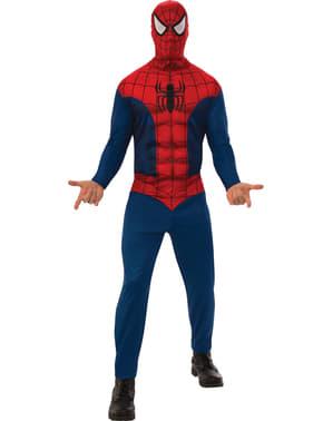 Spiderman enkelt kostyme for menn
