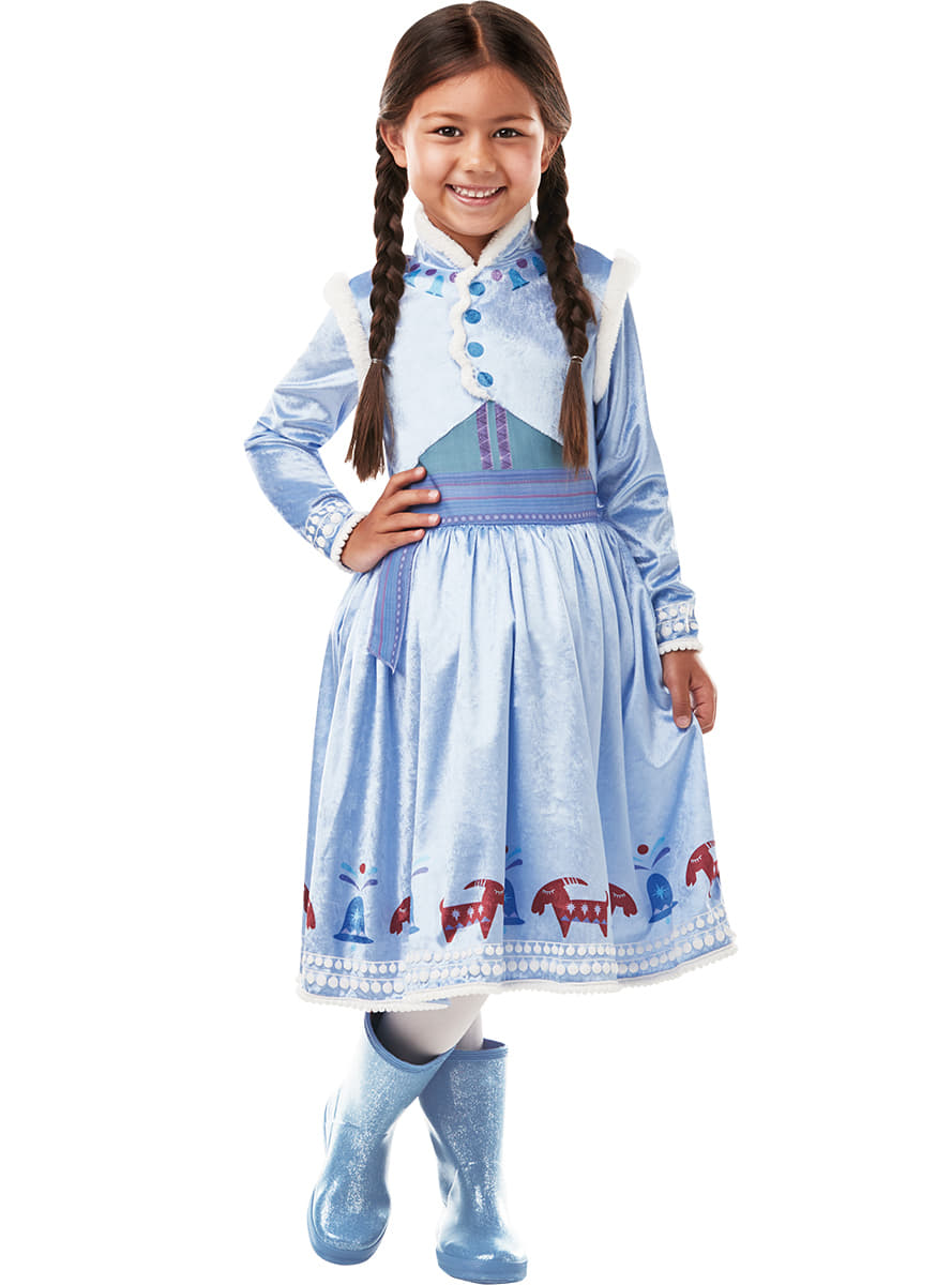 Costume anna deluxe la reine des neiges fille joyeuses - Ana reine des neiges ...
