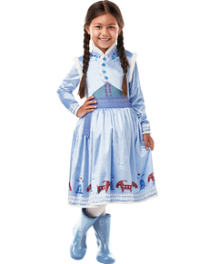 Deluxe Anna Frozen Costume For Girls   Olafu0027s Frozen Adventure