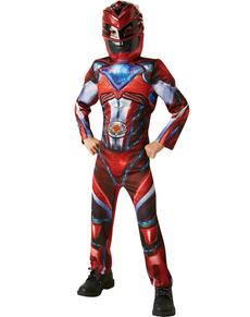 Disfraz de ranger rojo Power Rangers deluxe para niño