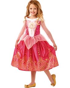 Tyttöjen deluxe Prinsessa Ruusunen-asu e1cb38a1b51b7