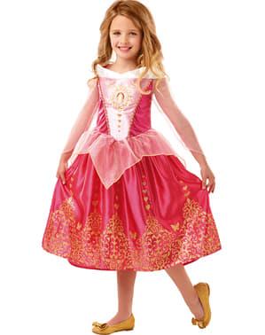 Tyttöjen deluxe Prinsessa Ruusunen-asu