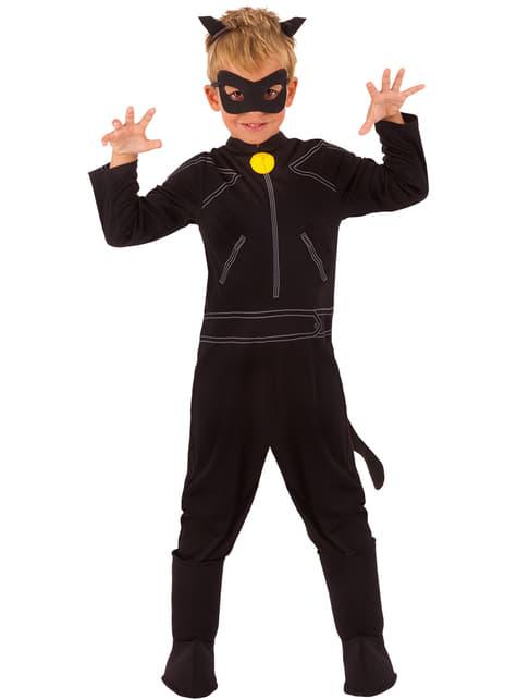 Fato de Gato Noir As Aventuras de Ladybug classic para menino