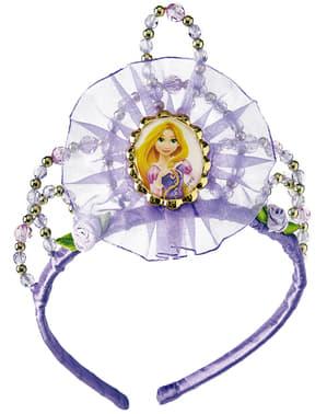 Tiara de Rapunzel glitter para niña