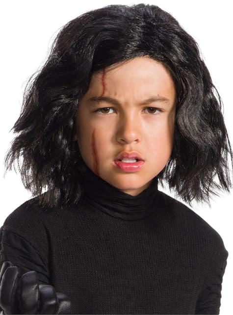 Peluca de Kylo Ren con cicatriz Star Wars The Last Jedi para niño