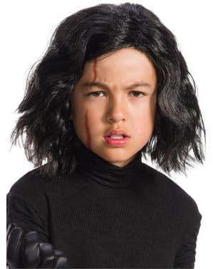 Kylo Ren Star Wars Rambut palsu Jedi yang terakhir dengan parut untuk kanak-kanak lelaki