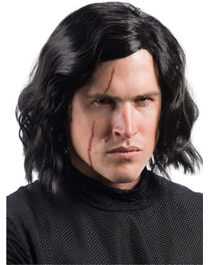 Kylo Ren Star Wars The Last Jedi wig with scar for men
