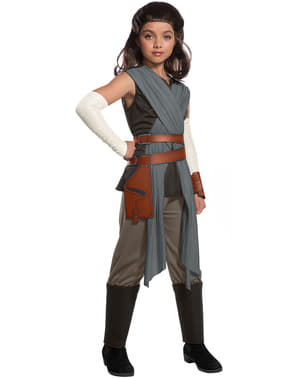 Rey deluxe kostume til piger - Star Wars: The Last Jedi