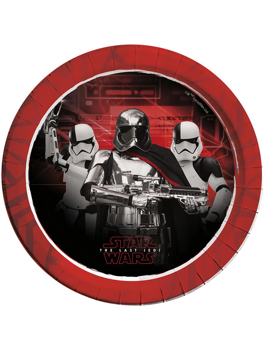 Detalle Zoom  sc 1 st  Funidelia & Star Wars The Last Jedi set of 8 plates | Funidelia