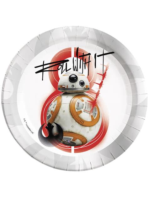 Conjunto de 8 pratos BB-8 Star Wars The Last Jedi