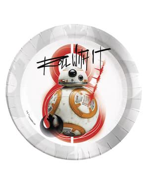 Zestaw 8 talerzy BB-8 Gwiedzne Wojny Ostatni Jedi