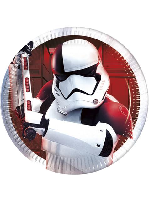 Conjunto de 8 pratos Executioner Trooper Star Wars The Last Jedi