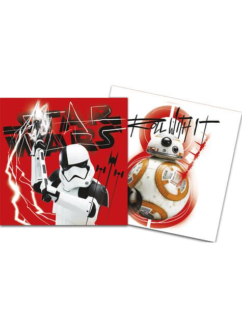 20 serviettes Star Wars Les Derniers Jedi
