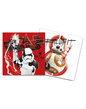 20 Serviettes en papier Star Wars Les Derniers Jedi