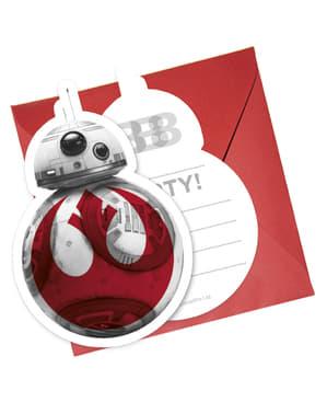 6 inbjudningskort Star Wars - The Last Jedi